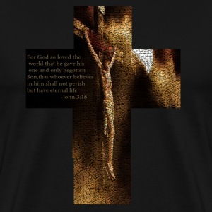 Black Christ On Cross T-Shirts - Men's Premium T-Shirt