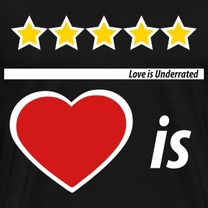Black Love is Underrated  By VOM Design - virtualONmars T-Shirts - Men's Premium T-Shirt