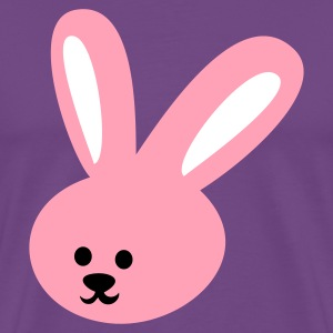 Purple rabbit cutie face easter bunny T-Shirts - Men's Premium T-Shirt