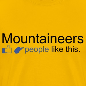 FACEBOOK: WV Mountaineers T-Shirts - Men's Premium T-Shirt