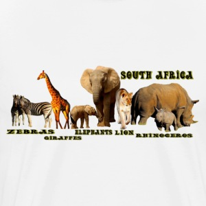 South African Wildlife Collage - Men's Premium T-Shirt
