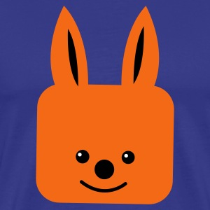 Royal blue fox cute face square T-Shirts - Men's Premium T-Shirt