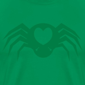 I heart Spiders with many eyes and love hearts T-Shirts - Men's Premium T-Shirt