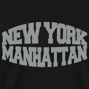 Black new york manhattan T-Shirts - Men's Premium T-Shirt