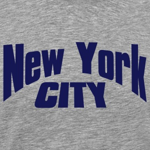 Heather grey new york city T-Shirts - Men's Premium T-Shirt