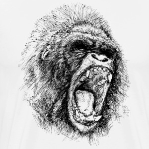 Gorilla Rage ( HD Pixel Design ) - Men's Premium T-Shirt