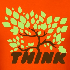 Orange think green with a beautiful tree leaves T-Shirts