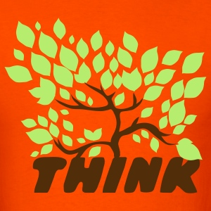 Orange think green with a beautiful tree leaves T-Shirts - Men's T-Shirt