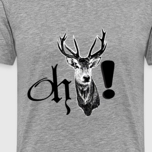 oh deer! shirt men heavyweight t shirt  - various colors - Men's Premium T-Shirt