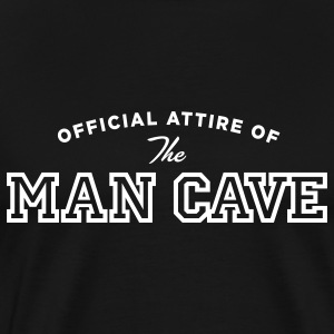 Black MAN CAVE T-Shirts - Men's Premium T-Shirt