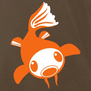 Brown cool koi fish alone goldfish T-Shirts - Men's Premium T-Shirt