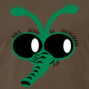 Brown FLY FACE blow fly with creppy nose and hairy eyes T-Shirts - Men's Premium T-Shirt