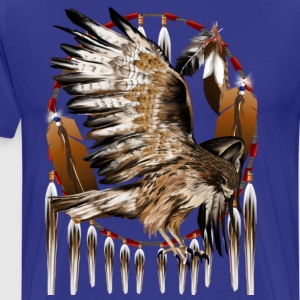 Flying Hawk Dreamcatcher - Men's Premium T-Shirt