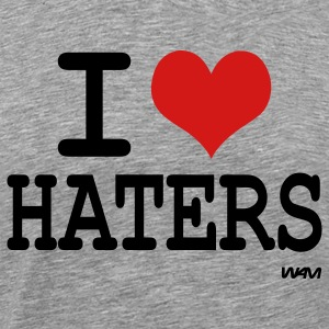 i love haters by wam T-Shirts - Men's Premium T-Shirt