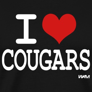 i love cougars by wam T-Shirts - Men's Premium T-Shirt