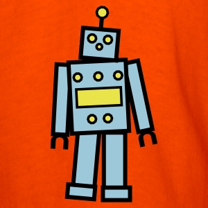 Orange Robot in Blue  By VOM Design - virtualONmars T-Shirts - Men's T-Shirt
