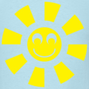Sky blue smiley sun T-Shirts - Men's T-Shirt