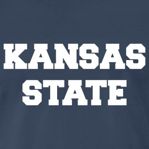 Navy kansas state T-Shirts - Men's Premium T-Shirt