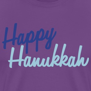 Purple happy hanukkah T-Shirts - Men's Premium T-Shirt