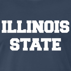 Navy illinois state T-Shirts - Men's Premium T-Shirt