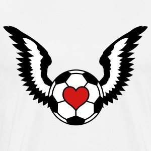 Love Soccer Winged - Men's Premium T-Shirt