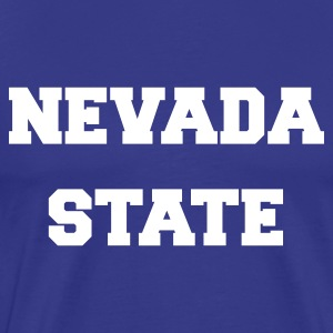 Royal blue nevada state T-Shirts - Men's Premium T-Shirt