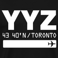 Design ~ Toronto airport code Canada  YYZ black t-shirt