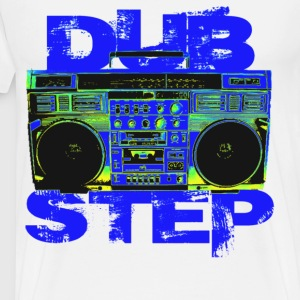 Dubstep BoomBox Blue - Men's Premium T-Shirt