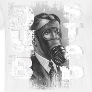 Dubstep Retro Gas Mask - Men's Premium T-Shirt