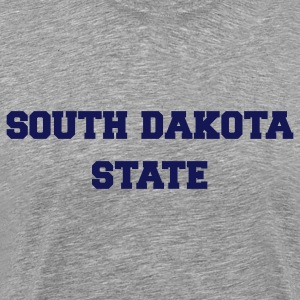 Heather grey south dakota state T-Shirts - Men's Premium T-Shirt