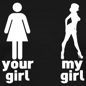 your girl vs my girl T-Shirts - Men's Premium T-Shirt