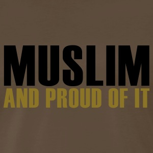 Brown Proud muslim T-Shirts - Men's Premium T-Shirt