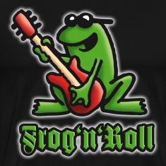 Black frog_n_roll_a_shine T-Shirts