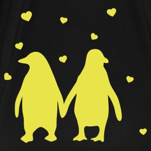 Penguins in love - love each other penguins T-Shirts - Men's Premium T-Shirt