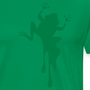 Kelly green FROG dripping down the shirt T-Shirts - Men's Premium T-Shirt