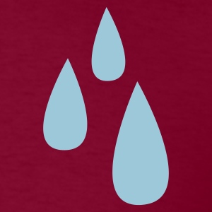 Burgundy droplets dripping tears tear drop T-Shirts - Men's T-Shirt