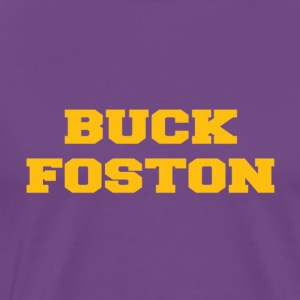 Buck Foston - Gold on Purple - Men's Premium T-Shirt