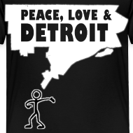 Design ~ Peace, Love and Detroit Toddler T-Shirt