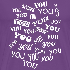 Purple you and me - typo T-Shirts - Men's Premium T-Shirt