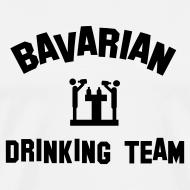 Design ~ Drinking Team Mens Tshirt White