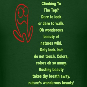 climbing_to_the_top101 T-Shirts - Men's T-Shirt
