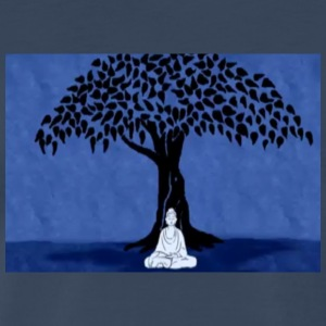 Buddha under bodhi tree at night - Men's Premium T-Shirt