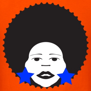 Orange afro woman blue T-Shirts - Men's T-Shirt