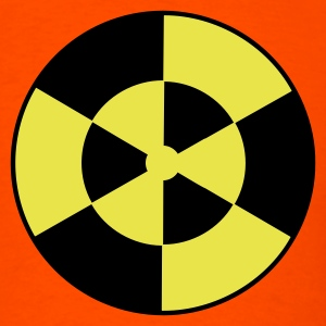 Orange DANGER WARNING RADIOACTIVE SYMBOL T-Shirts - Men's T-Shirt