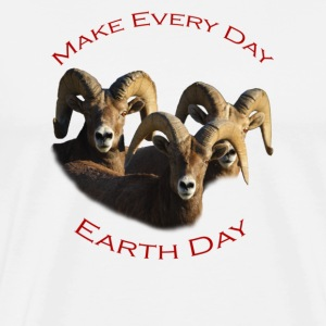 Rams, Make Every Day, Earth Day - Men's Premium T-Shirt