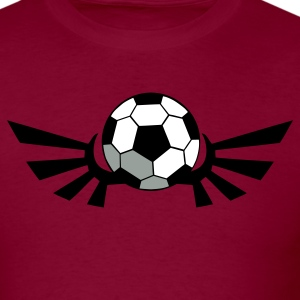 Burgundy SOCCER BALL football with AIRFORCE wings T-Shirts - Men's T-Shirt