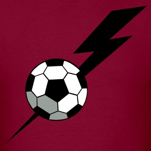Burgundy SOCCER BALL world cup with a LIGHTNING BOLT T-Shirts - Men's T-Shirt