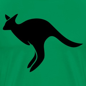 Kelly green jumping kangaroo Australia  T-Shirts - Men's Premium T-Shirt