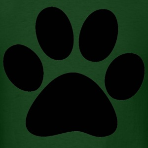 Forest green paw T-Shirts - Men's T-Shirt