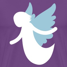 Purple angel flying with open arms T-Shirts
